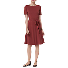 Buy L.K.Bennett Evelyn Fit and Flare Dress, Red Clay Online at johnlewis.com