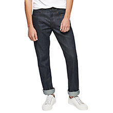 Buy Jigsaw Raw Selvedge Denim Jeans, Indigo Online at johnlewis.com