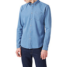 Buy Jigsaw Finlay Denim Shirt Stone Wash, Indigo Online at johnlewis.com