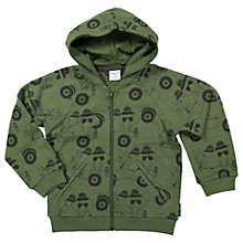 Buy Polarn O. Pyret Children's Rhino Hoodie, Green Online at johnlewis.com