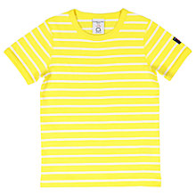 Buy Polarn O. Pyret Children's Striped T-Shirt, Yellow Online at johnlewis.com