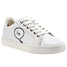 Buy Soludos Embroidered Lace-Up Trainers, White Online at johnlewis.com