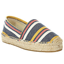 Buy Soludos Striped Original Flatform Espadrilles, Nantucket Stripe Online at johnlewis.com