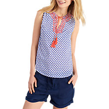 Buy Joules Otille Sleeveless Top, Bright White Starfish Online at johnlewis.com