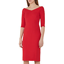 Buy Reiss Aimee Jersey Off The Shoulder Dress, China Red Online at johnlewis.com