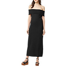 Buy Warehouse Deep Bardot Dress, Black Online at johnlewis.com