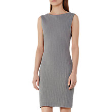 Buy Reiss Marte Textured Jersey Dress, White/Blue Online at johnlewis.com
