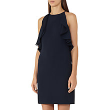 Buy Reiss Reva Halter Shape Shift Dress, Night Navy Online at johnlewis.com