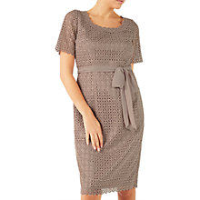 Buy Jacques Vert Circle Lace Shift Dress, Mid Neutral Online at johnlewis.com