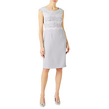 Buy Jacques Vert Scallop Layered Lace Dress, Grey Online at johnlewis.com