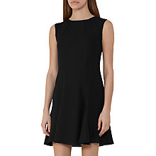 Buy Reiss Abey Shift Dress, Black Online at johnlewis.com