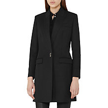 Buy Reiss Rebecca Tailored Coat, Black Online at johnlewis.com