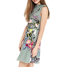 Buy Oasis Madison Placement Skater Dress, Khaki Online at johnlewis.com