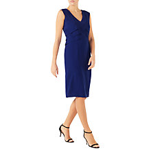 Buy Jacques Vert Panel Layered Shift Dress, Mid Blue Online at johnlewis.com