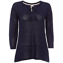 Buy White Stuff Tape It Up Knit Top, Navy Online at johnlewis.com