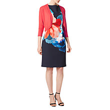 Buy Precis Petite Carly Crop Cardigan, Light Red Online at johnlewis.com