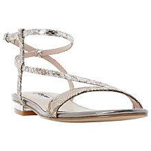 Buy Dune Miss Asymmetric Flat Sandals Online at johnlewis.com
