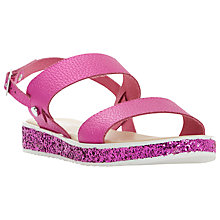 Buy Dune Lolitta Double Strap Glitter Sandals Online at johnlewis.com