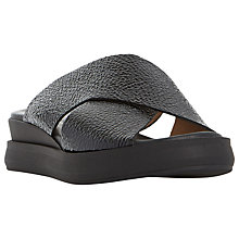 Buy Dune Black Lust Flatform Slider Sandals Online at johnlewis.com