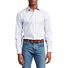 Buy Thomas Pink Hercules Check Slim Fit Shirt, Pale Blue/Pink Online at johnlewis.com