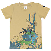 Buy Polarn O. Pyret Children's Printed T-Shirt, Brown Online at johnlewis.com