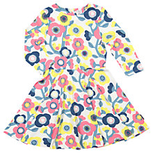 Buy Polarn O. Pyret Girls' Floral Dress, Cream/Multi Online at johnlewis.com