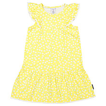 Buy Polarn O. Pyret Girls'Frill Floral Dress, Yellow Online at johnlewis.com