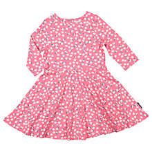 Buy Polarn O. Pyret Girls' Floral Print Dress, Pink Online at johnlewis.com