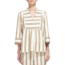 Buy Whistles Margarita Stripe Linen Blend Top, Multi Online at johnlewis.com