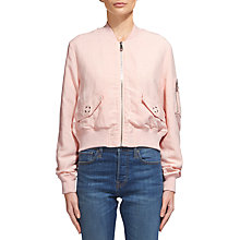 Buy Whistles Rudy Casual Bomber Jacket Online at johnlewis.com