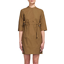Buy Whistles Darcy Poplin Drawstring Dress, Olive Online at johnlewis.com