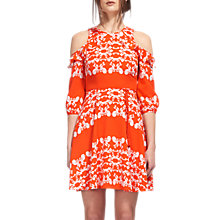 Buy Whistles Aldora Trailing Floral Dress, Red/White Online at johnlewis.com