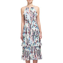 Buy Whistles Imie Fleur Print Tiered Dress, White/Multi Online at johnlewis.com