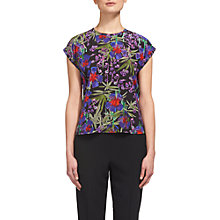 Buy Whistles Floris Print Silk Top, Multi Online at johnlewis.com