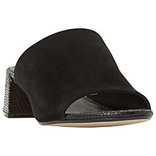 Buy Dune Mosco Block Heeled Mule Sandals Online at johnlewis.com
