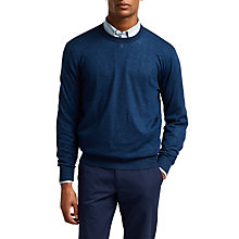 Buy Thomas Pink Russell Merino Linen Jumper, Navy Online at johnlewis.com
