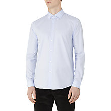 Buy Reiss Nash Diamond Stripe Weave Slim Fit Shirt, Blue Online at johnlewis.com
