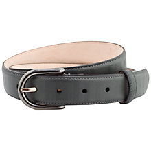 Buy Thomas Pink Herringbone Leather Belt, Charcoal Online at johnlewis.com