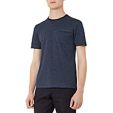 Buy Reiss Burley Fine Stripe T-Shirt, Indigo Online at johnlewis.com