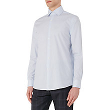Buy Reiss Avander Stripe Classic Fit Shirt, Blue Online at johnlewis.com
