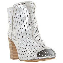 Buy Dune Iola Cut Out Peep Toe Shoe Boots, Silver Online at johnlewis.com