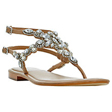 Buy Dune Nuevo Jewelled Sandals, Tan Online at johnlewis.com