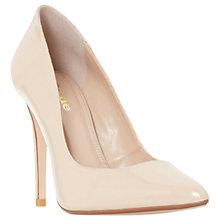 Buy Dune Wide Fit Aiyana Stiletto Court Shoes, Nude Online at johnlewis.com