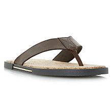 Buy Dune Indie Leather Sandals, Brown Online at johnlewis.com