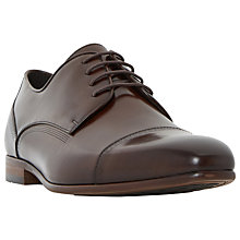 Buy Dune Pierre Derby Shoes, Brown Online at johnlewis.com