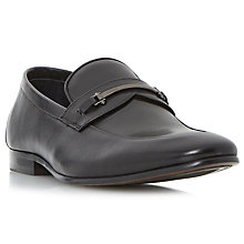 Buy Dune Pistol Loafers, Black Online at johnlewis.com