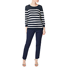 Buy Precis Petite Slub Stripe Jumper, Navy/Multi Online at johnlewis.com