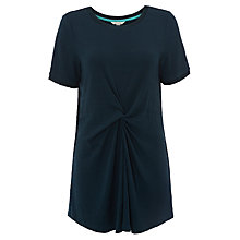 Buy White Stuff Twist Front Jersey Tunic Top, Artists Green Plain Online at johnlewis.com