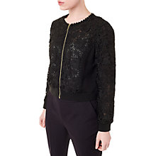 Buy Precis Petite Jeff Banks Lace Jacket, Black Online at johnlewis.com