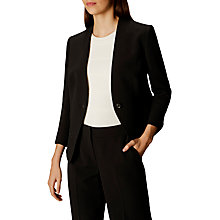 Buy Karen Millen Eyelet Modern Tailoring Jacket, Black Online at johnlewis.com